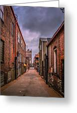 Alley A At Dawn Greeting Card