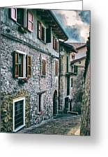 Alley In An Alpine Village #1 Greeting Card