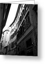 Alley In Florence Greeting Card
