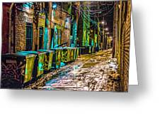 Alley In Uptown Chicago Dsc2687 Greeting Card