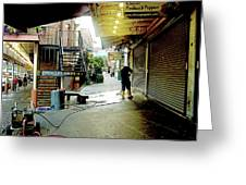Alley Market End Of Day Greeting Card