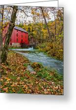 Alley Mill In Autumn Greeting Card