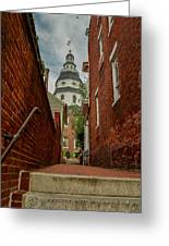 Alley View Greeting Card