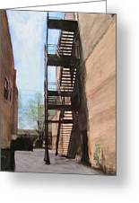 Alley W Fire Escape Greeting Card