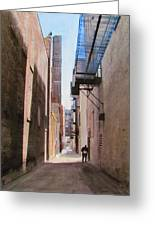 Alley W Guy Reading Greeting Card