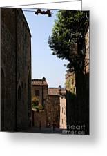 Alleyway In San Gimignano Greeting Card
