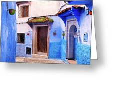 Alleyway In The Blue City Greeting Card