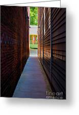 Alleyway To Green Greeting Card