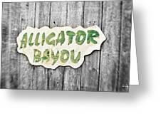 Alligator Bayou Greeting Card by Scott Pellegrin