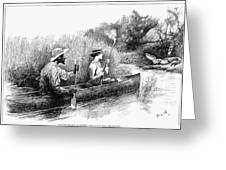 Alligator Hunt, 1888 Greeting Card