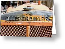 Allis-chalmers Greeting Card