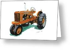 Allis Chalmers Tractor Greeting Card
