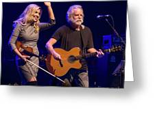 Allison Krauss And Bob Wier Greeting Card