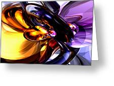 Alluring Grace Abstract Greeting Card