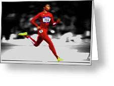 Allyson Felix Ahead Of The Pack Greeting Card
