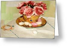 Almond Blossom Tea Greeting Card