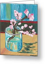 Almond Blossoms In A Glass Greeting Card
