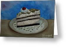 Almond Cake Greeting Card