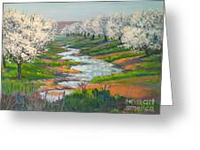 Almond Orchard In Bloom Greeting Card