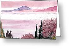 Almond Tree By The Sea Greeting Card