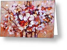 Almonds Blossom  5 Greeting Card
