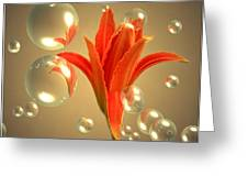 Almost A Blossom In Bubbles Greeting Card