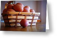 Almost All My Eggs In One Basket Greeting Card
