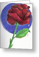 Almost Black Rose Greeting Card