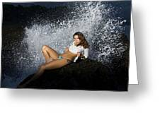 Almost Get Wet Greeting Card
