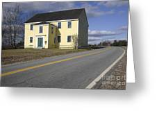 Alna Meetinghouse - Alna Maine Usa Greeting Card