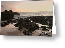 Aloha Paako Akahi Sunset Makena Maui Hawaii  Greeting Card