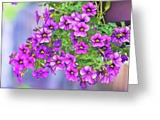Aloha Purple Sky Calibrachoa Abstract I Greeting Card