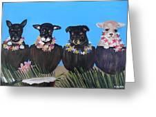 Aloha Teacup Chihuahuas Greeting Card