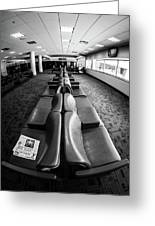 Alone At The Airline Gate Greeting Card
