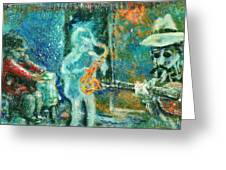 Alone With The Blues Greeting Card