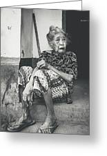Balinese Old Woman Greeting Card