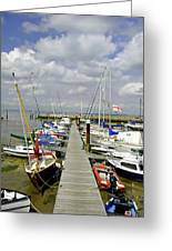 Along C Pontoon In Ryde Harbour Greeting Card