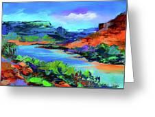 Along Colorado River - Utah Greeting Card