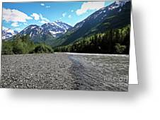 Along Eagle River- Eagle River, Alaska Greeting Card