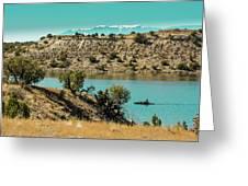 Along The Banks Of The Arkansas River Greeting Card