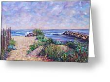 Along The Breachway Rhode Island Greeting Card