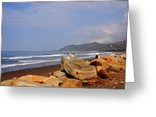 Along The Californian Coast Greeting Card