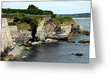 Along The Cliff Walk Trail Greeting Card