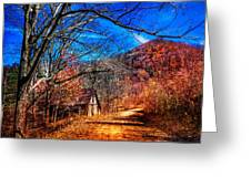 Along The Country Lane Greeting Card