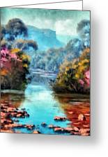 Along The Creek Greeting Card