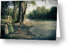 Along The Mississinewa River Greeting Card