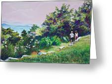 Along The Mountain Path Greeting Card