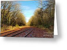 Along The Old Railroad  Greeting Card