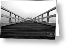 Along The Pier Greeting Card
