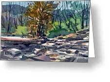 Along The Russian River Greeting Card